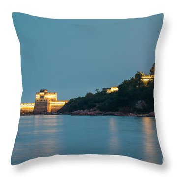 Great Wall At Night Throw Pillow