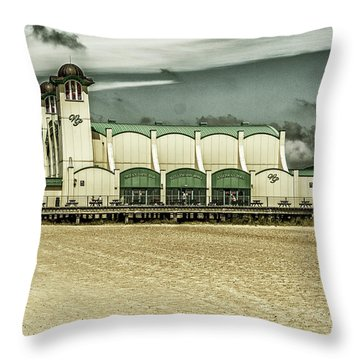 Throw Pillow featuring the photograph Great Yarmouth Wellington Pier by Scott Lyons