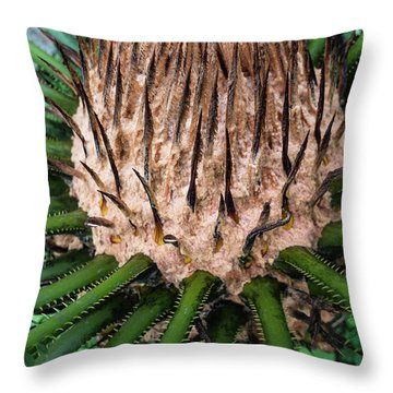 Throw Pillow featuring the photograph Green Abstract Series No.10 by Juan Contreras
