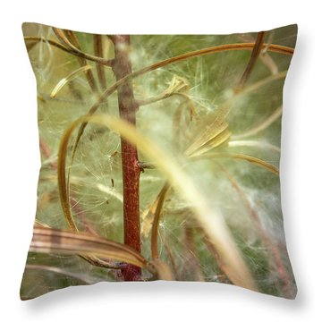 Throw Pillow featuring the photograph Green Abstract Series No.11 by Juan Contreras