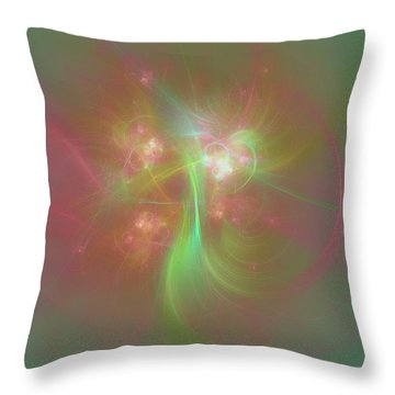 Throw Pillow featuring the photograph Green And Pink Fractal Art by Johanna Hurmerinta