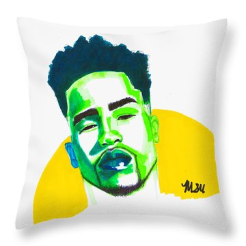 Green And Yellow Throw Pillow