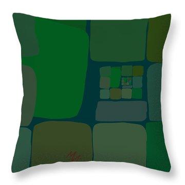 Throw Pillow featuring the digital art Green by Attila Meszlenyi