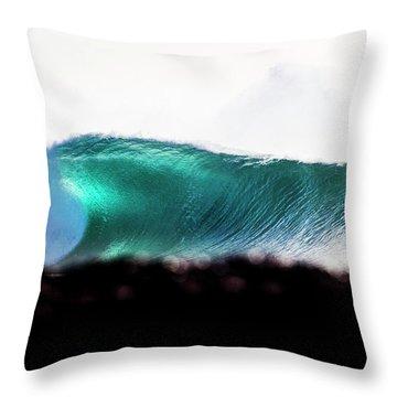 Green Coil Throw Pillow