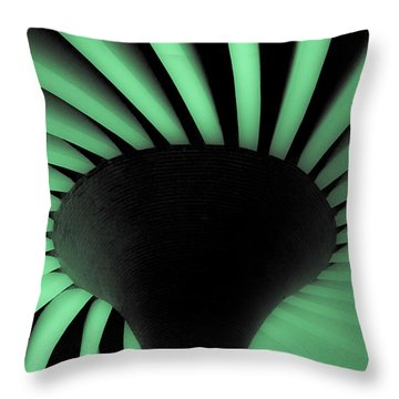 Green Fan Ceiling Throw Pillow