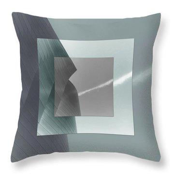 Green Gehry Throw Pillow