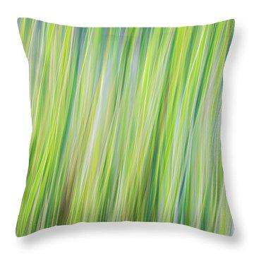 Green Grasses Throw Pillow