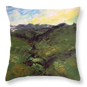Green Hills Throw Pillow