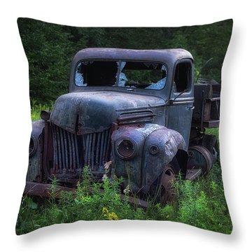 Green Mattress Throw Pillow