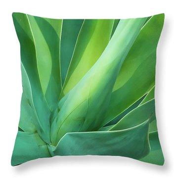 Green Minimalism Throw Pillow