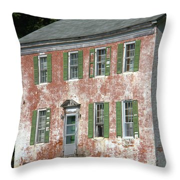 Green Town Throw Pillow
