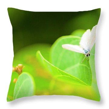 Green Wilderness Throw Pillow