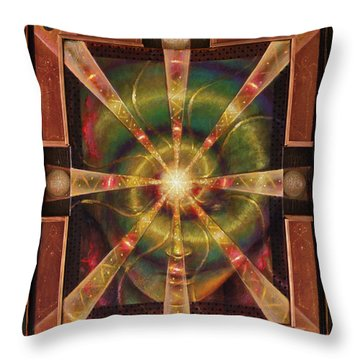 Green Woman Awakens Throw Pillow