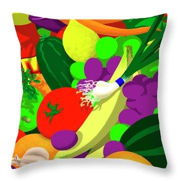 Greens 1 Pillow Throw Pillow