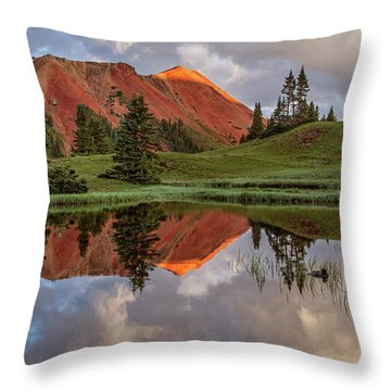 Grey Copper Gulch Throw Pillow