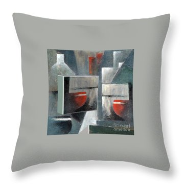 Throw Pillow featuring the painting Reflections by Val Byrne