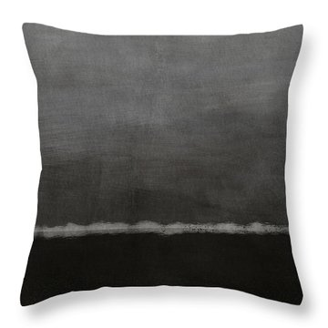 Grey Skies- Abstract Art By Linda Woods Throw Pillow