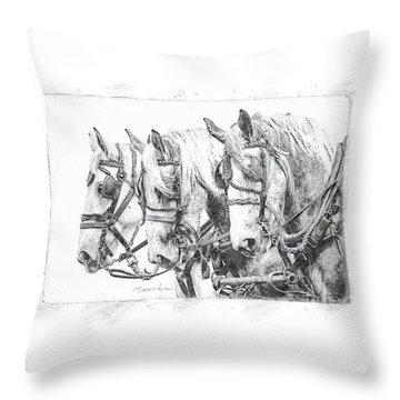 Throw Pillow featuring the photograph Grey Trio by Brad Allen Fine Art
