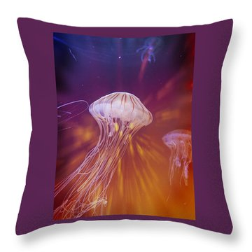 Groovin Jellies  Throw Pillow