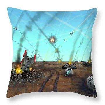 Ground Battle Throw Pillow