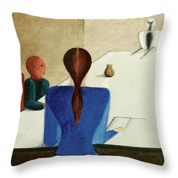 Group At Table, 1923 Throw Pillow