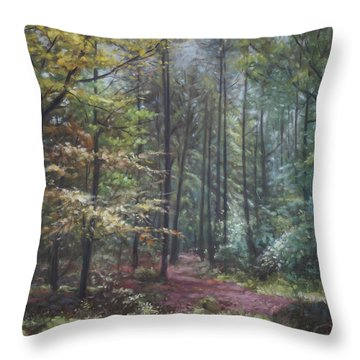 Group Of Trees In The New Forest. Throw Pillow
