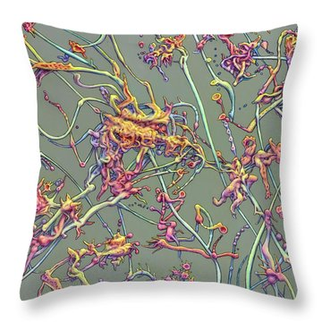 Organic Garden Throw Pillows