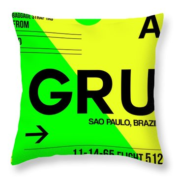 Gru Sao Paulo Luggage Tag I Throw Pillow