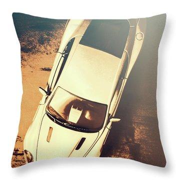 Grunge Garage Throw Pillow