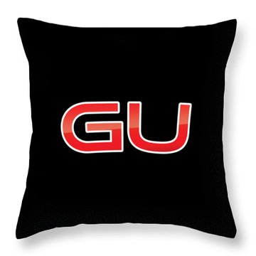 Throw Pillow featuring the digital art Gu by TintoDesigns