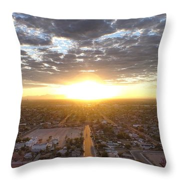 Guadalupe Sunset Throw Pillow