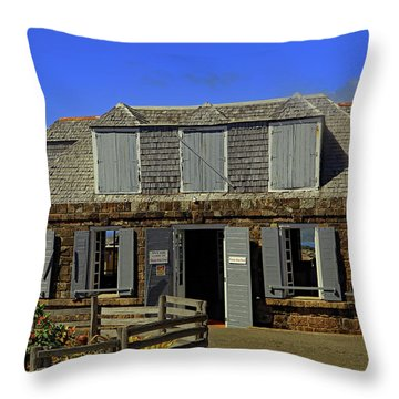 Throw Pillow featuring the photograph Guardhouse by Tony Murtagh