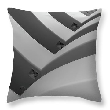 Throw Pillow featuring the photograph Guggenheim_museum by Mark Shoolery