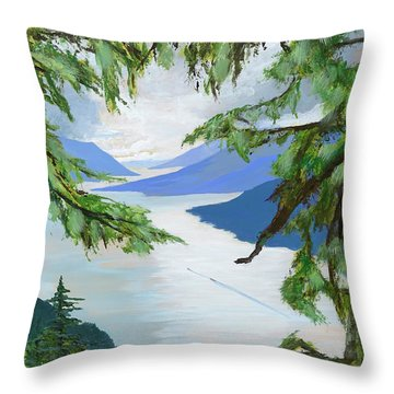 Guided Through The Fjords Throw Pillow