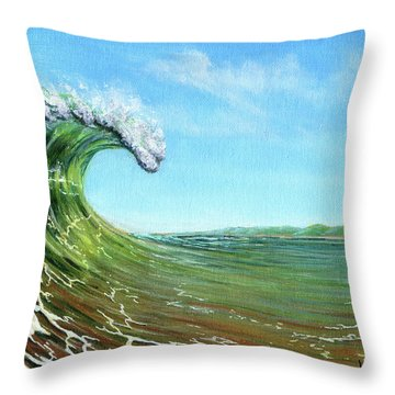 Gulf Of Mexico Surf Throw Pillow