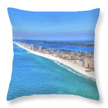 Gulf Shores Beaches 1335 Tonemapped Throw Pillow