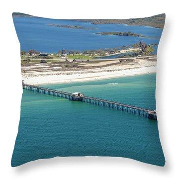 Gulf State Park Pier 7464n Throw Pillow