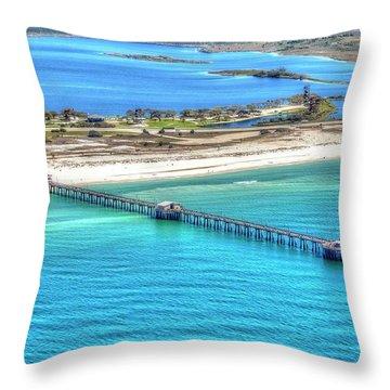 Gulf State Park Pier 7464p3 Throw Pillow