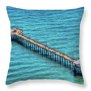 Gulf State Park Pier Throw Pillow