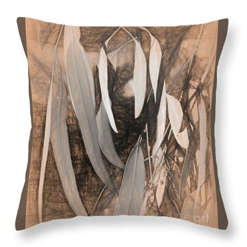 Gum Leaves Throw Pillow
