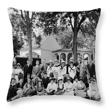 Gummersbach Party, Mt. Vernon, Va, June Throw Pillow