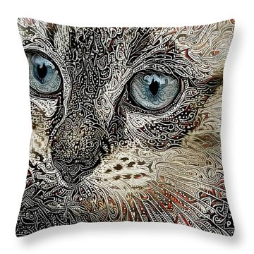 Gypsy The Siamese Kitten Throw Pillow
