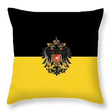 Habsburg Flag With Small Imperial Coat Of Arms Throw Pillow