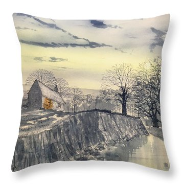 Hag Dyke By Moonlight Throw Pillow