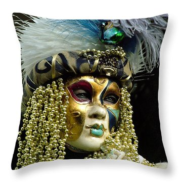 Throw Pillow featuring the photograph Hair Of Gold Beads by Donna Corless