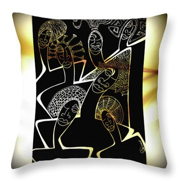 Hair Sisters Stage Set Throw Pillow