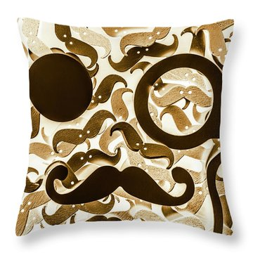 Hairy Hipster Throw Pillow
