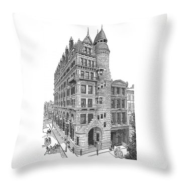 Hale Building Throw Pillow