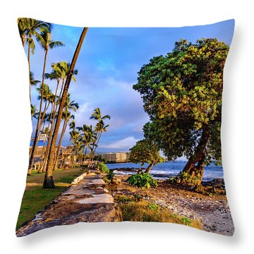 Hale Halawai Park Throw Pillow