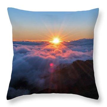 Haleakala First Light  Throw Pillow